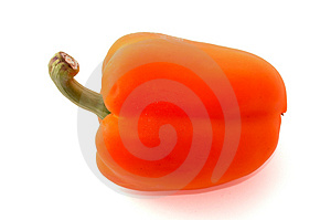 Orange Bell Pepper Free Stock Photography