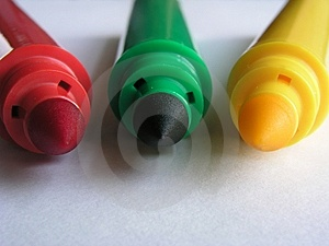 Basic Colors II-Markers Royalty Free Stock Image