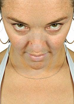 Intense Stare - Girl Sally Stock Photo