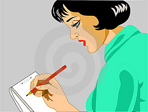 Secretary taking notes Royalty Free Stock Images