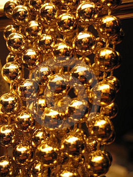 Gold Balls Free Stock Images