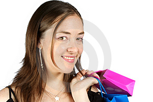 Business Woman With Shopping Bags - Sally Stock Images