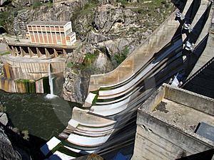 Barrage de l'eau Photo libre de droits