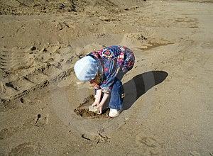 A rock on the beach Stock Photo