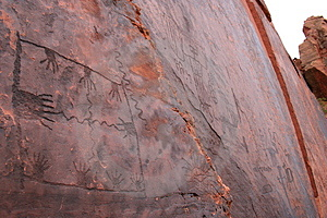 Cliff Art Writing Carvings Free Stock Photos