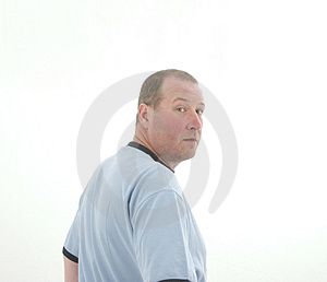 Man in Blue Royalty Free Stock Images