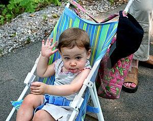 Baby Girl Attitude Royalty Free Stock Photography