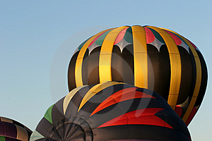 Hot Air Balloons Inflating Free Stock Image