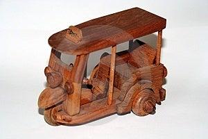 Thai Wooden Taxi Stock Photo
