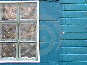 Colorful City - Turquoise Window Free Stock Photos