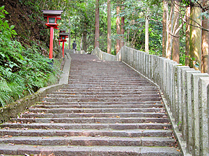 Stairs To The Temple Free Stock Photo