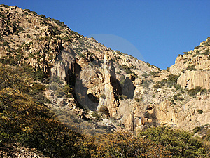 Pustynne góry Obraz Royalty Free