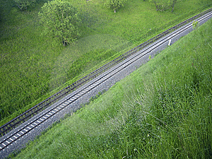 View On A Track Free Stock Images