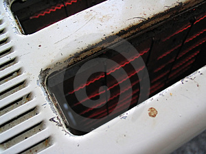 Inside An Old Toaster Stock Image