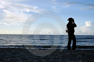 Silhouette Of Man Free Stock Photography