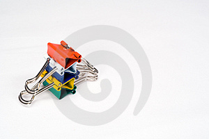 Colorful Clips In Stack Stock Photography