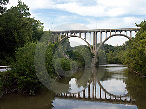 Ponte arqueada Foto de Stock Royalty Free