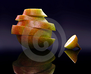 Pear Slices Free Stock Images