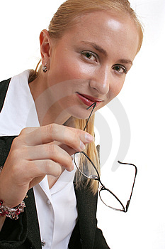 Lady With Glasses Stock Photography