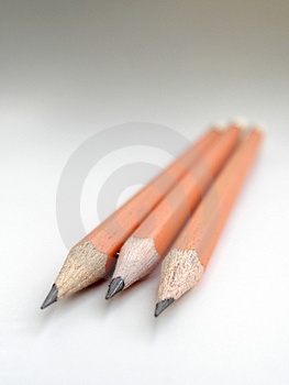 Three Pencils Stock Photos