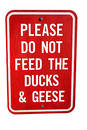 Please don't feed the ducks! Stock Photos