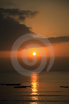 Sunrise over the Indian Ocean Royalty Free Stock Photos