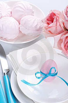 Easter Table Setting Royalty Free Stock Photo - Image: 19009445