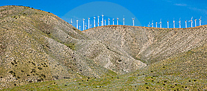Wind Turbines On A Hill Stock Photos - Image: 19016763