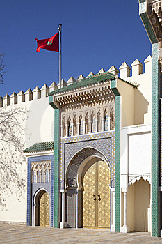Palace In Fez In Marocco Royalty Free Stock Photo - Image: 19017895