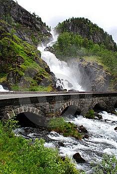 Latefossen Waterfall Royalty Free Stock Photography - Image: 19019447