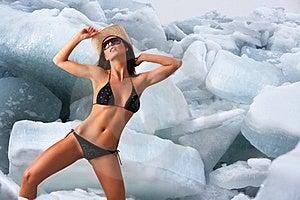 Bambina del ghiaccio. Fotografie Stock