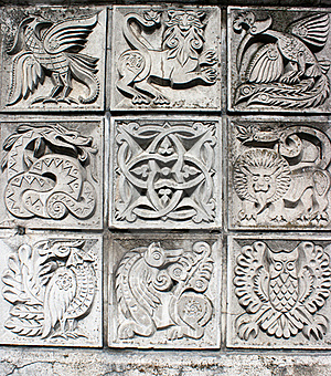 Bas-reliefs Of Animals Stock Image - Image: 19023281