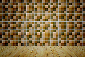 Mosaic Wooden Room Stock Image - Image: 19032971