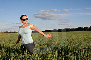 Young Woman Outdoors Royalty Free Stock Images - Image: 19033389
