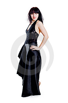 Woman In Black Royalty Free Stock Photo - Image: 19034855