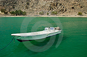Boat In A Bay Stock Image - Image: 19035011