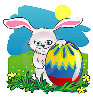 Easter Rabbit And Eggs Stock Image - Image: 19035981