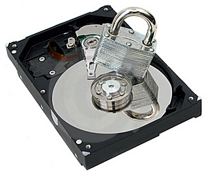 Strong Lock On Top Of Hard Disk Royalty Free Stock Photos - Image: 19036228