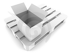 Open Box On Pallet Royalty Free Stock Photography - Image: 19038247