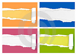 Ripped Colored Paper Backgrouns. Royalty Free Stock Images - Image: 19038299