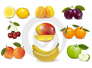 Group With Different Sorts Of Fruit. Stock Photos - Image: 19038313