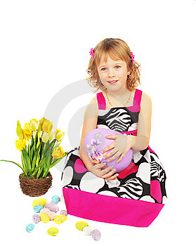 Portrait Of A Happy Little Girl Royalty Free Stock Photo - Image: 19040005