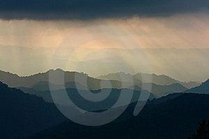 Sunbeam And Mountain Layer Stock Image - Image: 19040441