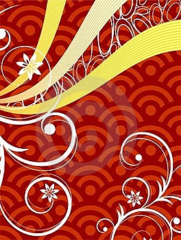Red Curly Graphic Royalty Free Stock Photos - Image: 19040668