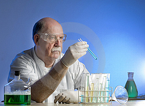 Scientist Working With Chemicals Royalty Free Stock Image - Image: 19041506