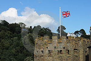 British Flag In The Tower Stock Photo - Image: 19042630