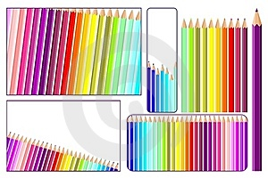 Colored Pencils In Vector Royalty Free Stock Photography - Image: 19043217
