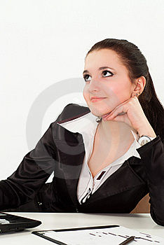 Beautiful Woman In A Black Business Suit Royalty Free Stock Photo - Image: 19045495