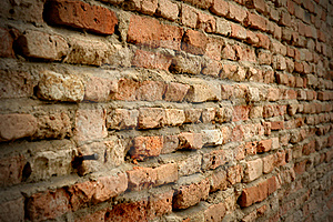 Old red brick wall Free Stock Photo