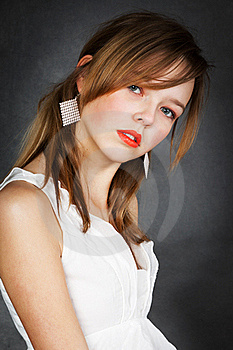 Girl In White Blouse Stock Image - Image: 19047011